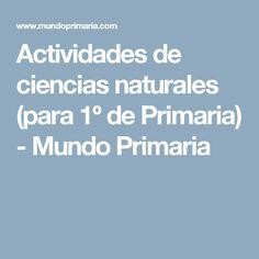 Actividades de ciencias naturales (para 1º de Primaria) - Mundo Primaria