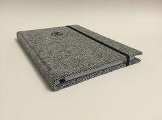 Copertinato in tessuto, rilegatura a filo, elastico, personalizzata