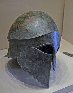 Bronze Corinthian-type helmet from Aiani,
