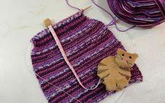 AlliEls-Min kreativa sida: Stickade tossor. Bra Hacks, Handicraft, Crochet Bikini, Needlework, Bra Tips, Fashion, Creative, Craft, Embroidery