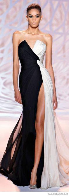 I love this black and white dress design