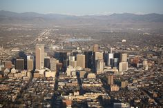 Nice picture of Denver. Looks like a better city, without all the parking lots visible.