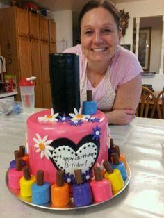 Nail Polish fondant birthday cake