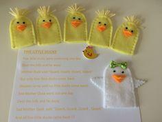 "Hand Made Felt Finger Puppet Set- ""Five little Ducks"" - available to order"