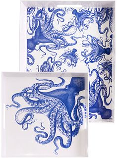 Creatures of the Deep Octopus Print Tray Set at PLASTICLAND