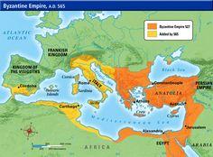 Byzantine Empire: Modern Turkey, Italy, Greece, Jordan, Syria, Albania, Bosnia and Herzegovina, Bulgaria, Sinai Peninsula, Northern Africa at its height.