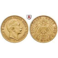 Deutsches Kaiserreich, Preussen, Wilhelm II., 20 Mark 1913, A, vz, J. 252: Wilhelm II. 1888-1918. 20 Mark 1913 A. J. 252; GOLD,… #coins