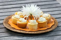 "Orange Marmalade Ricotta Cupcakes courtesy of ""A Taste of Glynn Cookbook""  www.elegantislandliving.net"