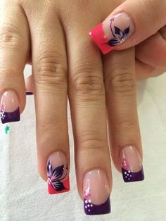 23 ideas for nails pink french toe Fabulous Nails, Gorgeous Nails, Pretty Nails, Toe Nail Art, Toe Nails, Acrylic Nails, Finger, Flower Nail Art, Fancy Nails