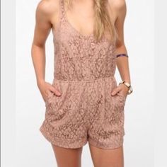 🆑WAS 39.00🆑URBAN OUTFITTERS LACE T BACK ROMPER 🆑❌CLOSET CLOSING ❌🆑URBAN OUTFITTERS. This Romper is adorable.  Fully lined front and shorts. T back is not. Side pockets are the best. NWOT. LISTING IS FOR ROMER ONLY. 20% OFF ALL BUNDLES 💕💕💕 Urban Outfitters Pants Jumpsuits & Rompers