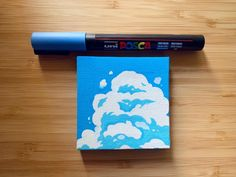 Recently bought Posca markers and tested them out on this mini canvas. I really love illustrating clouds! Posca Marker, Marker Art, Art Inspiration Drawing, Art Inspo, Art Sketches, Art Drawings, Mini Toile, Arte Latina, Posca Art