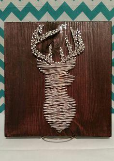Beautiful Deer String Art by CinnSugarSpice on Etsy, $25.00