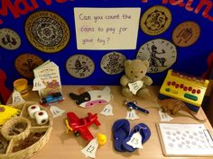 Interactive maths display - toy shop