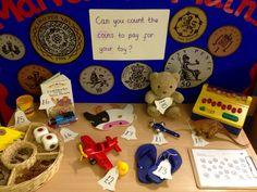 Interactive maths display - toy shop