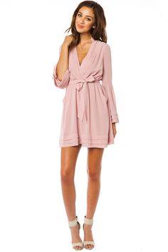 ShopSosie Style : Rorey Wrap Dress in Blush