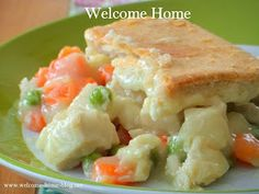 Welcome Home: Homemade Chicken Pot Pie with Puffed Pastry! I love the Welcome Home website - great website!