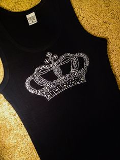 Hey, I found this really awesome Etsy listing at https://www.etsy.com/listing/159918358/large-crown-rhinestone-bling-shirt