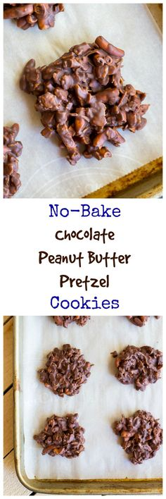 These No-Bake Chocolate Pretzel Peanut Butter Cookies are perfect for summer time! Easy to make and delicious to eat! {gluten free}