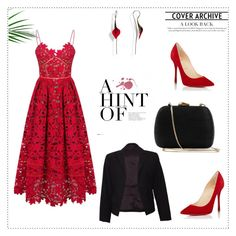 """""""Love & Red"""" by merima-699 ❤ liked on Polyvore featuring Christian Louboutin, Serpui and Theory"""
