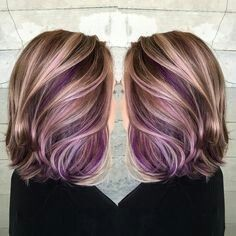 Purple with sandy blonde highlights