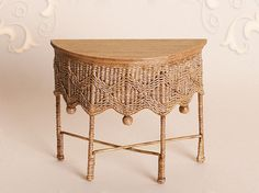 WC/109, wicker side table, scale 1 : 12, made by Will Werson.