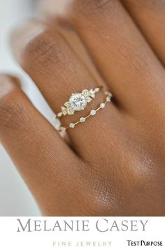 Wedding Rings Vintage, Wedding Jewelry, Unique Wedding Rings, Bohemian Wedding Rings, Vintage Weddings, Wedding Ring Styles, White Gold Wedding Rings, Rose Gold Rings, Indian Wedding Rings