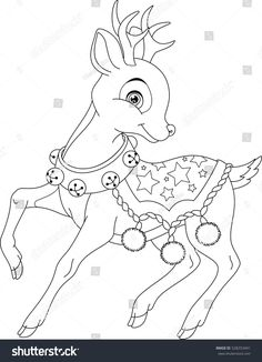 Christmas deer coloring page Clipart Vector and Illustration. 211 Christmas deer coloring page clip art vector EPS images available to search from thousands of royalty free stock art and stock illustration creators. Deer Coloring Pages, Cat Coloring Page, Coloring Pages For Kids, Coloring Books, Cross Stitch Christmas Ornaments, Christmas Deer, Christmas Colors, Christmas Crafts, Christmas Coloring Sheets