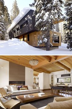 Set near the snow-prone Sugar Bowl ski resort near Lake Tahoe, this house has to content with snow loads that come with nearly ten feet of pack at a time. The resulting design is definitely modern, but it recalls railroad avalanche sheds of times passed with a roof tilt designed to shed excessiv ...
