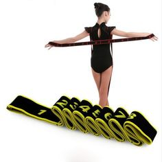 Girl Children Adult Latin/Ballet Bands Dance Resistance Exercise Body Stretching Belt Pull Up Elastic Dance Training Accessories Gymnastics Routines, Gymnastics Moves, Amazing Gymnastics, Ninja Training, Dance Training, Dance Accessories, Workout Accessories, Magic Circle Pilates, Drag Bike