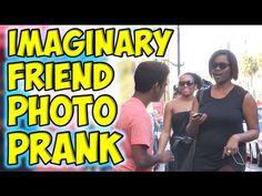 Imaginary Friend Photo Prank: L. Passersby Get Straight Up Confused, Kind of Scared Funny Prank Videos, Good Pranks, Funny Pranks, Learn Magic, Friend Photos, How To Take Photos, Viral Videos, The Funny, Make Me Smile