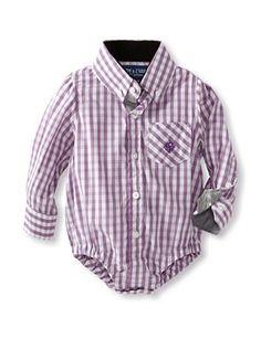 61% OFF Andy & Evan Baby Classic Check Shirtzie (Medium Purple)