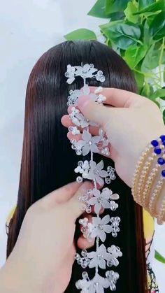 Bun Hairstyles For Long Hair, Braids For Long Hair, Bride Hairstyles, Braid Hair, Front Hair Styles, Medium Hair Styles, Hair Style Vedio, Bridal Hair Buns, Long Hair Wedding Styles