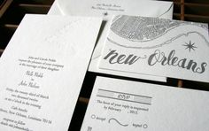 Oh So Beautiful Paper: Wedding Invitations from Blackbird Letterpress