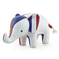 animaux ZÜNY presse-papier en similicuir, objet déco éléphant drapeau FRANCE http://www.designers-avenue.com/fr/486-zuny