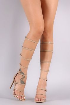 5931208941b7 Liliana Strappy Buckled Gladiator Heel. Jazz ShoesFancy ShoesGladiator  Sandals ...