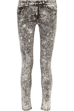 RAG & BONE Acid-washed mid-rise skinny jeans £89.30 http://www.theoutnet.com/products/647914