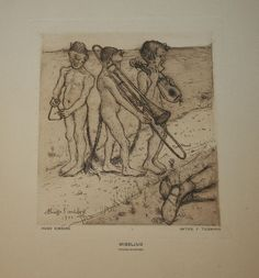 Discords by Hugo Simberg, Etching North Europe, Boy Art, Vintage Artwork, Close To My Heart, Gravure, Surreal Art, Discord, Finland, Surrealism
