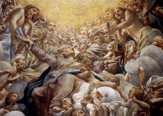 Maria's Tenhemelopneming. Fresco. Correggio, 1526. Parma, Dom