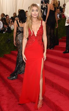 Gigi Hadid from 2015 Met Gala...More interesting details to consider.Change the color & try different fabric & embellishments combinations for that ultimate bridal look. Work with your seamstress to create that special bridal look.