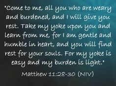 matthew 11 28-30 - Google Search