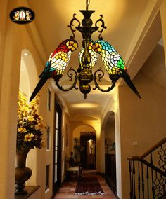 Stained glass lamp Love these! Vintage Boho Bohemian Home Decor Interior Design and Hippy Fashion from Ruby Lane www.rubylane.com @rubyalnceom