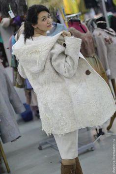 Верхняя одежда ручной работы. парка Белая. Резеда Дейнека. Ярмарка Мастеров. Пальто ручной работы, куртка женская