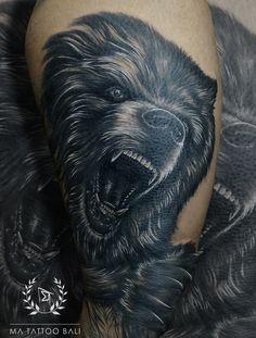 Realist Bear Tattoo by: Prima Ma Tattoo, Piercing Tattoo, Tattoo Shop, Tattoo Studio, Tattoo Master, Ink Master, Tattoos For Guys, Cool Tattoos, Fine Line Tattoos