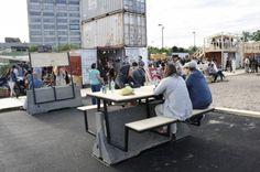 Atelier Guy_Mobilier urbain_02 Architecture Details, Landscape Architecture, Urban Furniture, Outdoor Furniture, Jersey Barrier, Area Urbana, Concrete Light, Urban Intervention, Space Place