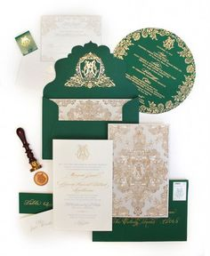 Emerald Green Wedding Paper