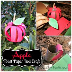 Toilet Paper Roll Apple #roshhashanah #sukkot