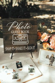 Adorable rustic signage featured at this summery guest book table Image by Rachel Wakefield Photography Wedding Guest Book, Wedding Table, Fall Wedding, Diy Wedding, Wedding Favors, Wedding Ceremony, Wedding Hacks, Wedding Desert, Dream Wedding