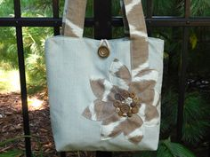 Blue Fabric Tote Bag Medium Tote Bag by BerkshireCollections