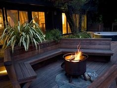Enjoy the fire pit on a beautiful evening in the peaceful nature setting.