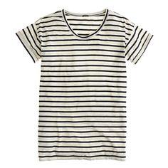 Summer's perfect tee: side-slit stripe tunic / j.crew